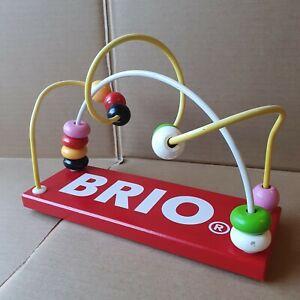 Brio wooden bead roller coaster maze Childrens toy