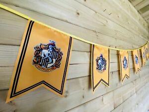 HARRY POTTER Hufflepuff Bunting Party Event Hogwarts Celebration Polyester 4m💛