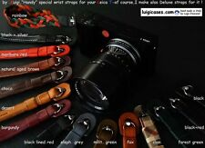 "LUIGI HANDY WRIST STRAP for LEICA T,PREMIUM LEATHERS, SS ""PIN""+UPS/DHL INCLUDED"
