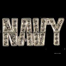 NAVY Crystal Pin