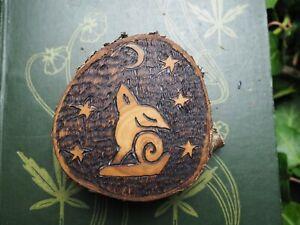 Cherry Wood Moon Hare Altar Piece - Wisdom - Witchcraft, Wicca, Pagan, Rabbit