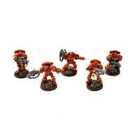 BLOOD ANGELS 5 sternguard veterans #1 WELL PAINTED METAL Warhammer 40K