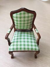 1/12 Dollhouse Furniture Single Armchair Made of Cloth& Wood JL0431