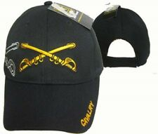 U.S. Army Cavalry Shadow Black Embroidered Cap Hat 615