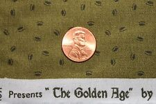 """""""THE GOLDEN AGE"""" COTTON QUILT FABRIC BY THE YD FOR WINDHAM FABRICS 41238-5"""