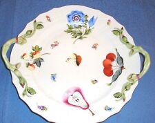 "Herend  12"" Chop Plate w/Handles FRN Fruitsn& Flowers Nectar                  r3"