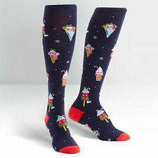 Sock It To Me Women's Funky Knee High Socks - Cold Things Being Cold