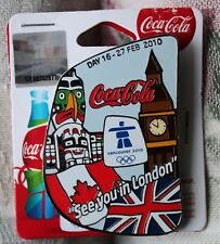 Day 16 Bottle set 27 feb  AUTHENTIC Coca cola  Vancouver 2010  Olympic PIN NEW