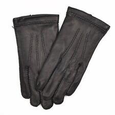 Hirschleder Deerskin Leather Gr 9 1/2 Handschuhe Gloves Made in England Schwarz