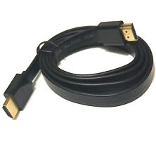 HDMI cable with ethernet e34003 3ft AWM Flat High Speed HDMI Cable - Black