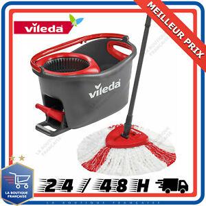 VILEDA Easy Wring & Clean Turbo Balai à Frange + Seau à Pédale Menage Maison