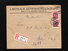 Germany Inflation Vertical Pair 500,000 Mark J Mehlich Berlin Joint Stock 1923 ¼