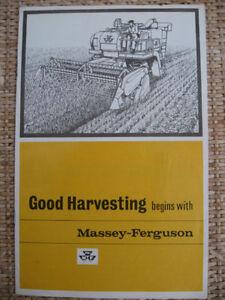 FERGUSON 'GOOD HARVESTING' LEAFLET .................... ORIGINAL BROCHURE MANUAL