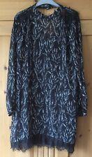 BNWT Zara black long sleeve dress With Separate Cami Lining size XL (18-20)