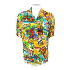 Jams World Daytona Sear's Laguna Vegas Motorcycle Racing Large Rayon Shirt