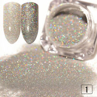 1g/Box Holographic Holo Silver Laser Powder  Nail Art Glitter Powder