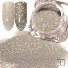 1g Silver Laser Holographic Holo Powder Glitter Manicure Nail Art Powder Decor