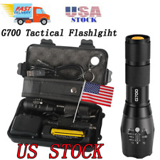 Outdoor Camping G700 Tactical Flashlight Home Rechargeable Torch Emergency Gear