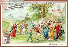 Ball Dance Danse Italy Middle Moyen  Ages c1903 Trade Ad Card f