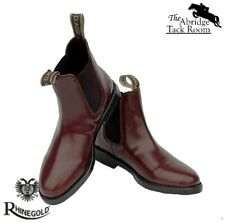 Rhinegold Childrens Classic Leather Jodhpur Boots   Size 5   OXBLOOD  FREE P&P