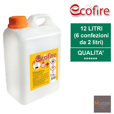 6x BIOETANOLO ECOFIRE 2L COMBUSTILE  BIO ALTA QUALITA' INODORE NO FUMO