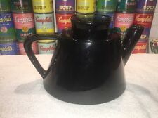 Ikea modernist style black ceramic coffee tea pot 15199 - hard to find!