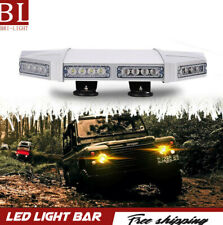 "FOR  Snow Plow Truck IP67  18"" inch  White Warning Strobe Lights"