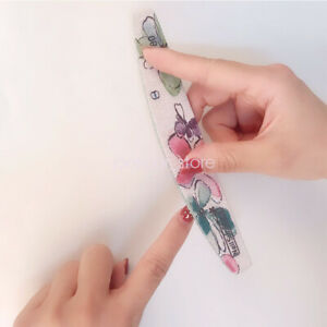 6Pcs Nail File Printing Sanding Strips Manicure Gel Polish Tools for Home Use
