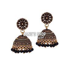 Indian Jewelry Silver Oxidized Jhumka Jhumke Earrings Afghani Bollywood Set