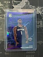 2019-20 Donruss Optic Zion Williamson My House! Purple Prizm Rookie RC #15