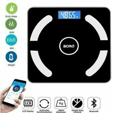 Bathroom Digital Bluetooth Fitbit Smart Weight Scale BMI Body Fat Composition US