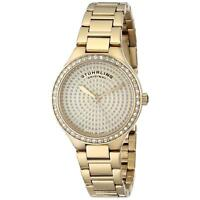 Stuhrling Symphony 683 Women's 32mm Gold Steel Bracelet & Case Watch 683.03