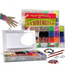 Loom Mega XXXL Set Webrahmen 5200 RubberBands DIYBox Hacken Rainbow Weben Loomis