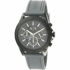 NEW Armani Exchange Men's AX2609 Grey Silicone Watch