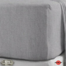 "100 Brushed Cotton Flannelette 40cm/16"" Extra Deep Fitted Sheets in 12 Colours King Silver"