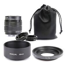 Fujian 35mm F1.7 CCTV TV Movie lens for Fujifilm X  Mount Camera X-Pro1 7 & hood