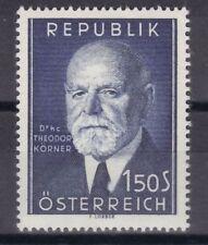 Echte Briefmarken (1950-1959) mit Politiker österreichische