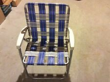 Vintage Aluminum Frame Webbed Folding Lawn or Beach Chair