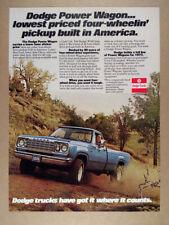 1977 Dodge Power Wagon Pickup Truck vintage print Ad