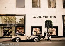 TIME4BILD LOUIS VUITTON SHOP CAR BROWN Vintage Loft BILDER LEINWAND ART GICLEE