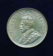 SOUTH AFRICA  GEORGE V  1924  2 1/2 SHILLINGS SILVER COIN,  XF/AU