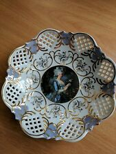 Unique Porcelain Serving Dish/Bowl/Plate, Reticulated, Fenix, Marie Antoinette