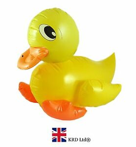 LARGE INFLATABLE DUCK Blow Up Toy Animal Inflate Baby Kids Party Decoration 42cm