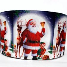 """Grosgrain Ribbon 5/8"""", 7/8"""",1.5"""", 3"""" Christmas Santa Claus Printed"""