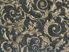 Saxon 4678 Scroll Grey 100% Polyester Fabric