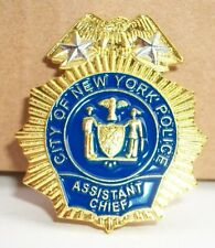 NYPD Police Assistant Chief mini badge shield NYC LAPEL PIN not coin