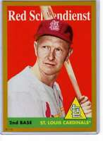 Red Schoendienst 2019 Topps Archives 5x7 Gold #52 /10 Cardinals