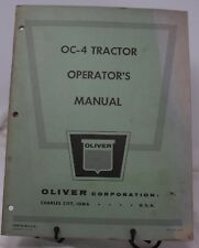 O C-4 OLIVER TRACTOR OPERATOR'S OWNERS MANUAL ORIGINAL