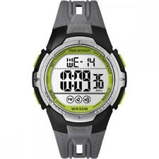 Orologio Uomo TIMEX MARATHON TW5M06700 Silicone Grigio Digitale Chrono Alarm