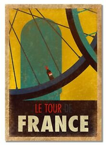Tour de France Tarnished Style Old Vintage Cycling Photo Retro Advert Posters